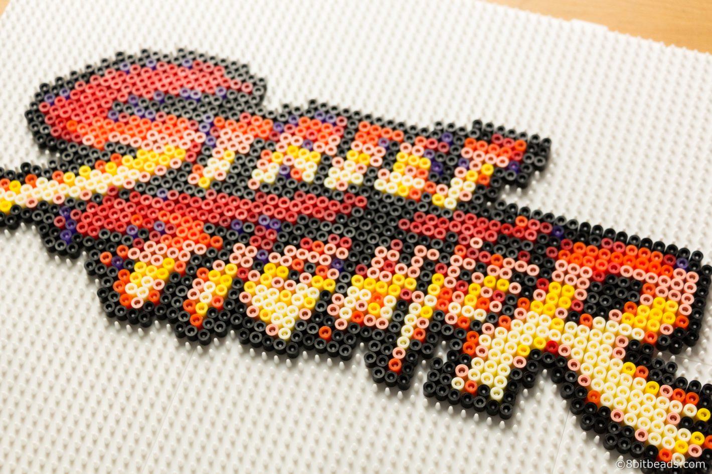 Street Fighter Logo Hama Perler
