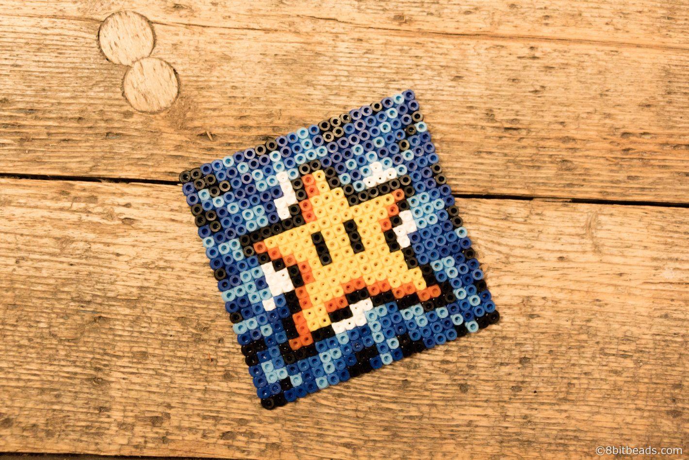 Super Mario Star Coaster 8bitbeads.com