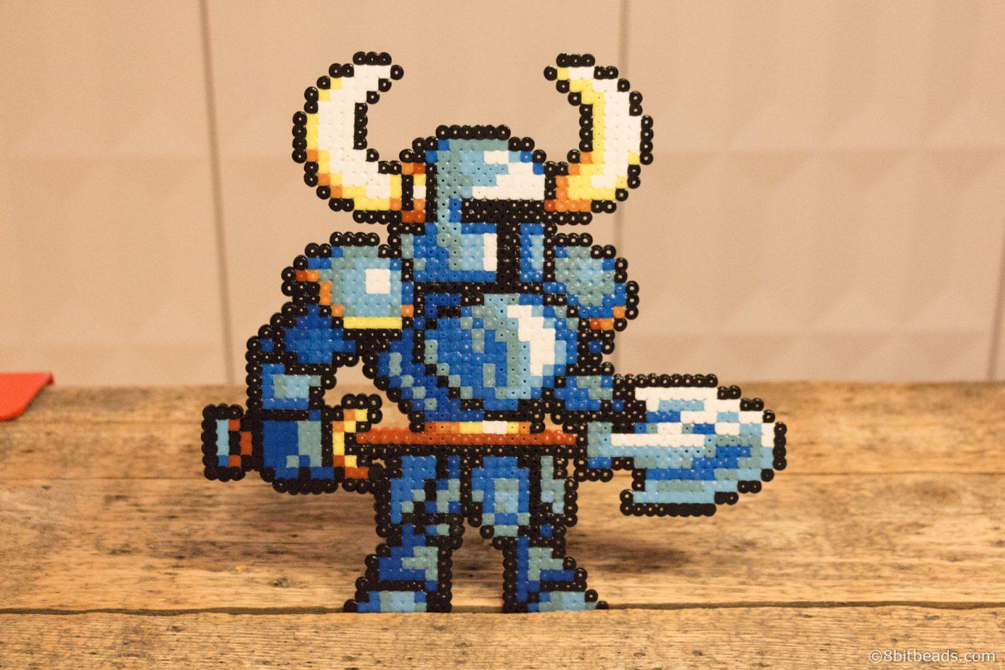 The Shovel Knight Hama Perler